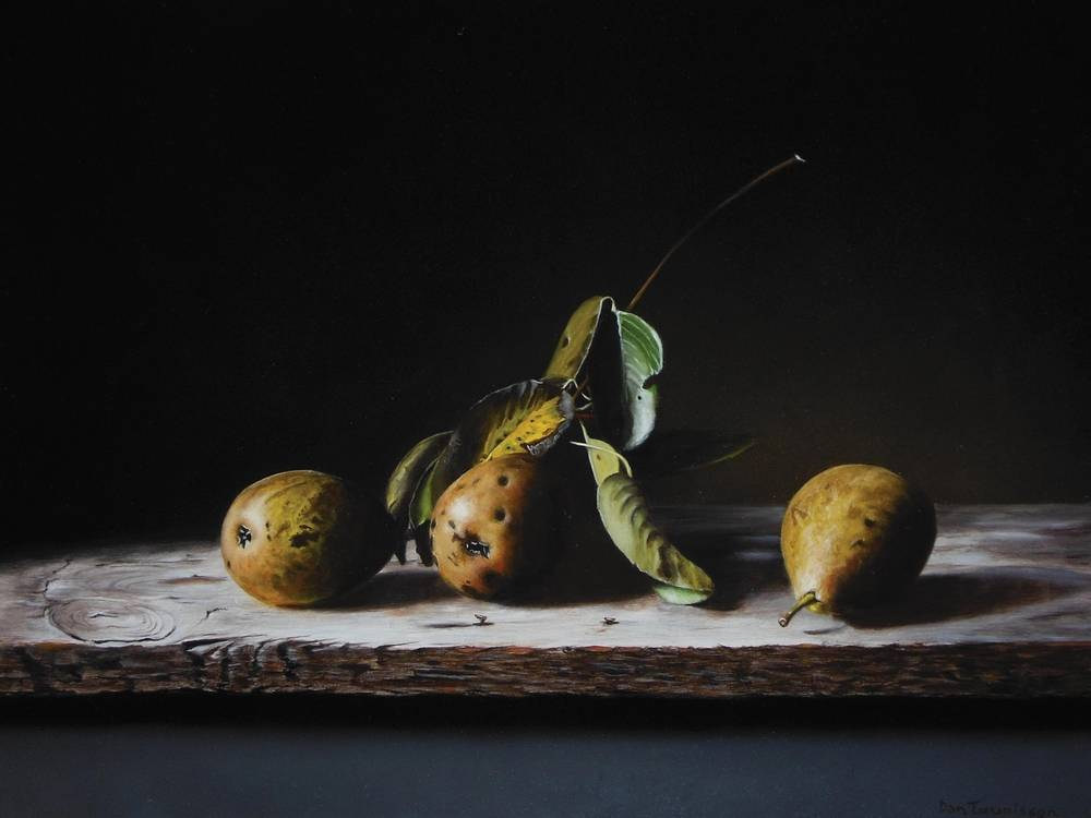 Trio of pears
