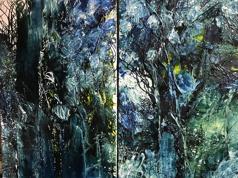 Emerald Forest Diptych